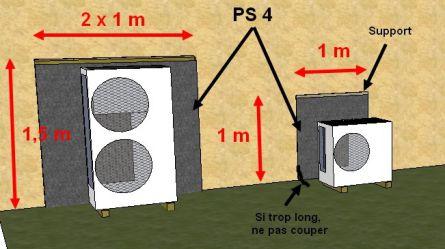 Produits isolation acoustiques et supports pour pac for Ecran anti bruit exterieur